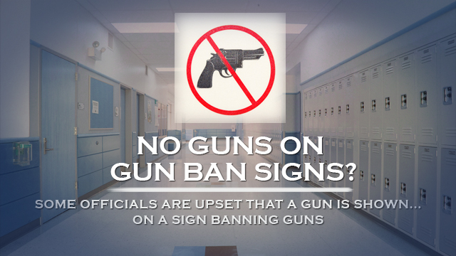 No Guns On Gun Ban Signs?