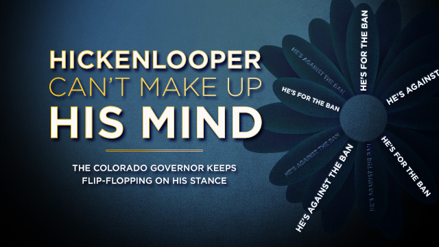 Hickenlooper Can't Make Up His Mind