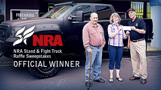 NRA Stand & Fight Truck Raffle Winner